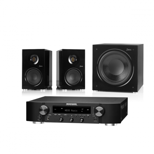 Saxx coolSOUND CX 30 + deepSOUND DS 12 + Marantz NR1200 Schwarz Schwarz